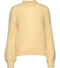 mohair knit gebreide trui geel maud