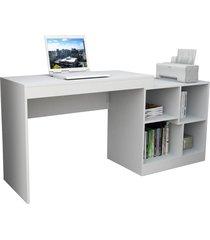 escrivaninha e mesa p/ computador moove branco appunto - branco - dafiti