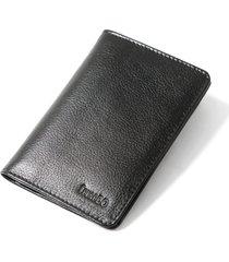 carteira couro couro50 slim preta - preto - masculino - dafiti