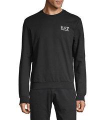 pullover stretch-cotton sweatshirt