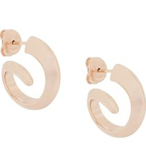 bottega veneta short hoop earrings - gold