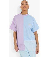 colour block t-shirt, lilac