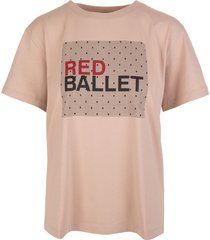 point desprit red ballett t-shirt