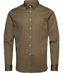 dalton button under shirt skjorta casual grön morris