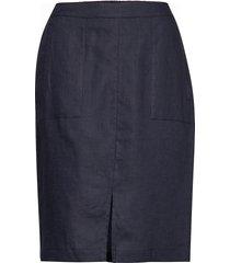 sara skirt knälång kjol blå masai