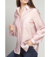 blusa voile rosa vintage liola