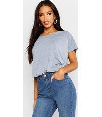 basic oversized t-shirt, grijs gemêleerd