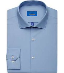 perry ellis premium blue slim fit tech dress shirt