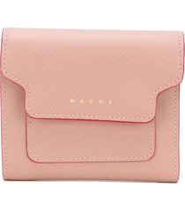 marni square flap wallet - pink