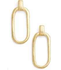 karine sultan doorknocker earrings in gold at nordstrom