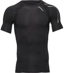 compression s/s top-m t-shirts short-sleeved zwart 2xu