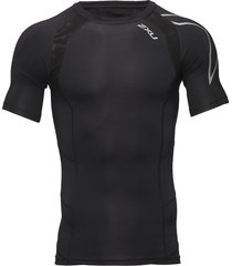 compression s/s top-m t-shirts short-sleeved zwart 2xu