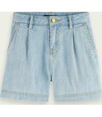scotch & soda denim shorts - washed indigo