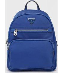 mochila little bay backpack azul guess