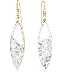 diamond marquise shaker drop earrings