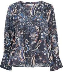 blus neon garden blouse