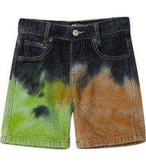 molo denim shorts with tie dye pattern