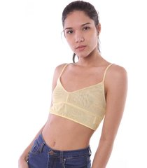bralette amarillo vov jeans microtull