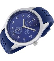 reloj azul montreal caucho