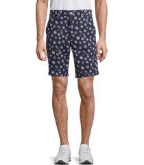 joe's jeans men's brixton printed shorts - navy - size 30