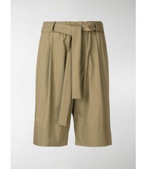 federico curradi loose-fit belted shorts