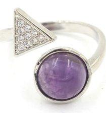 anillo mujer reiki amatista bh21421