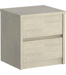 mesa de cabeceira 2 gavetas 811 marfim areia m foscarini off-white - bege - dafiti