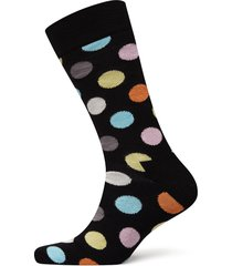 big dot sock underwear socks regular socks svart happy socks