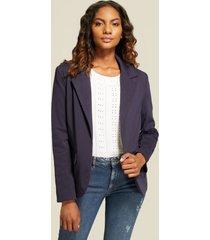 blazer básico  solapa ancha azul 14