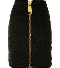 moschino oversized zip skirt - black