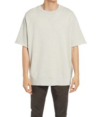 men's allsaints men's burnish short sleeve sweatshirt, size large - grey