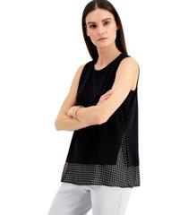 alfani sleeveless overlay top, created for macy's