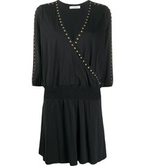 dorothee schumacher stud-trimmed dress - black