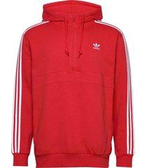 3-stripes hz hoodie trui rood adidas originals