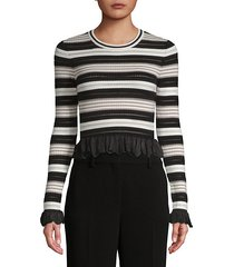 adelaide striped cropped top