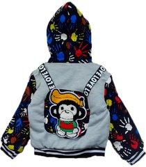 jaqueta casaco manabana infantil grossa com pelucia mochilinha