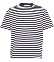 sami classic stripe t-shirt t-shirts short-sleeved blauw wood wood