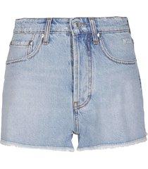 msgm light blue denim shorts