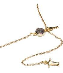 colar key design lorimer gold feminino
