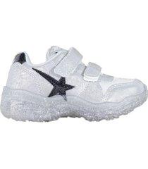 zapatilla blanca footy crystal led