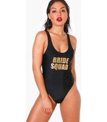 bride squad badpak, zwart