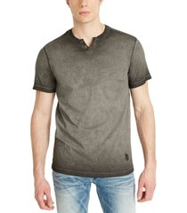 buffalo david bitton men's kawind jersey knit henley t-shirt