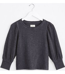 lou & grey cozy jersey puff sleeve top