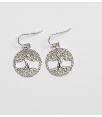 cz tree of life earrings