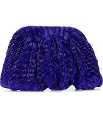 benedetta bruzziches all-over crystal clutch bag - blue