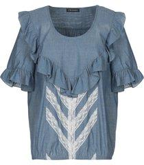 twinset denim shirts