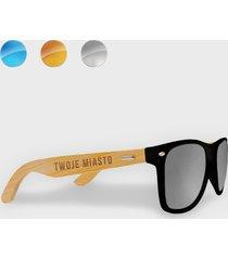 okulary przeciwsłoneczne z oprawkami z twoim miastem