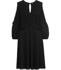 abito in jersey con pizzo (nero) - bodyflirt