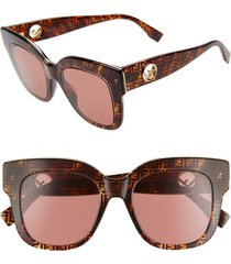 women's fendi 51mm sunglasses - tortoise camouflage