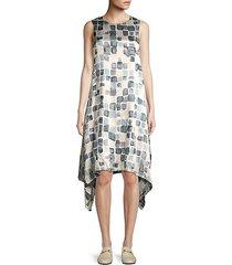 mosiac print handkercheif dress